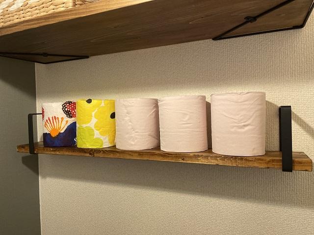 トイレットペーパー収納 DIY